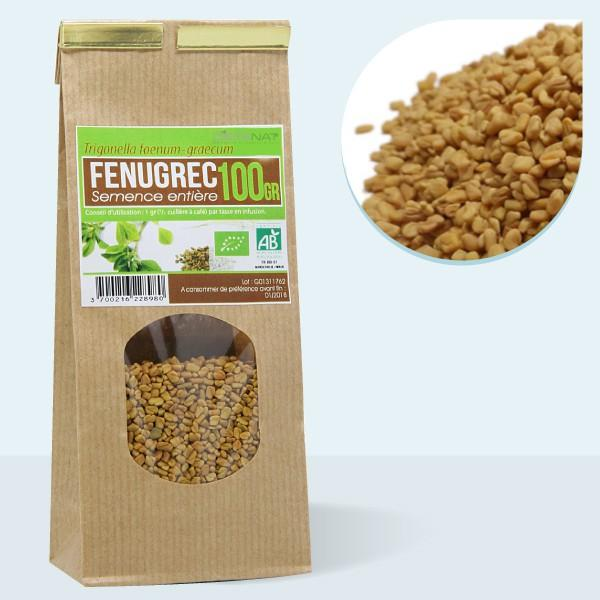 Fenugrec semences entières  bio - 100gr Tisane médicinale