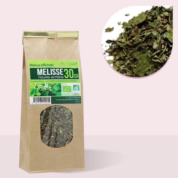 Mélisse feuilles entières bio - 30gr Tisane médicinale