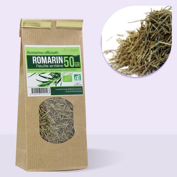 Romarin feuilles entières bio - 50gr Tisane médicinale