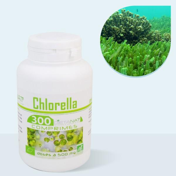 Chlorelle ECOCERT - 300 Comprimés bio 500mg