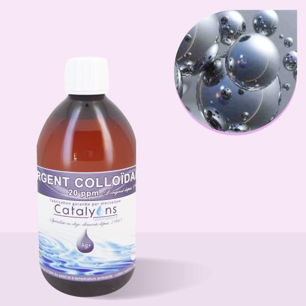 Argent Colloïdal Laboratoire Catalyons 20 ppm - 500 ml