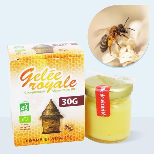 Gelée Royale pure bio - 1000 mg Pot de 30g