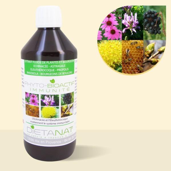 Complexe Immunité - 500ml Extrait de plantes fraiches et bourgeons bio