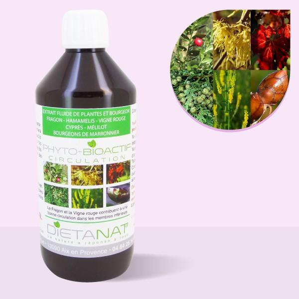 Complexe Circulation - 500ml Extrait de plantes fraiches et bourgeons bio