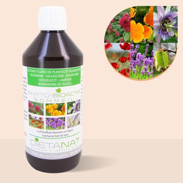 Complexe Sommeil - 500ml Extrait de plantes fraiches et bourgeons bio