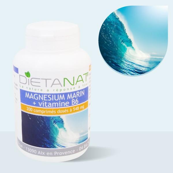 Magnésium Marin Vitamine B6 - 200 comprimés dosés à 548mg