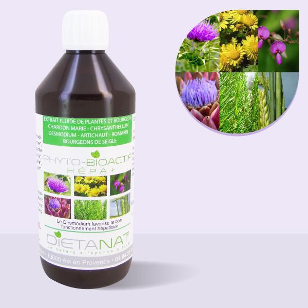 Complexe Hépa+ ® - 500ml Extrait de plantes fraiches et bourgeons