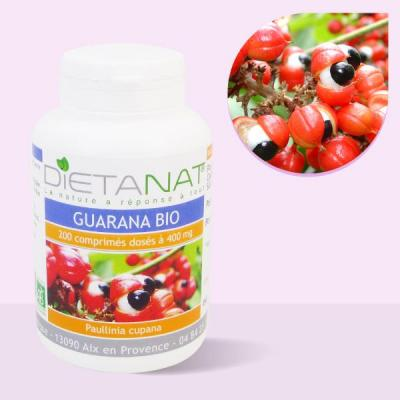 Guarana bio - 200 Comprimés bio 400mg