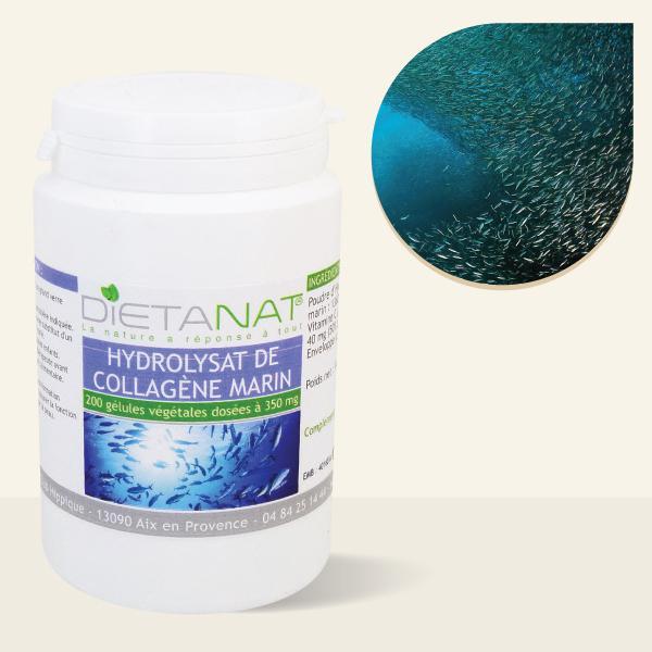 Collagène Marin Hydrolysat Vitamine C - 200 Gélules végétales 350mg