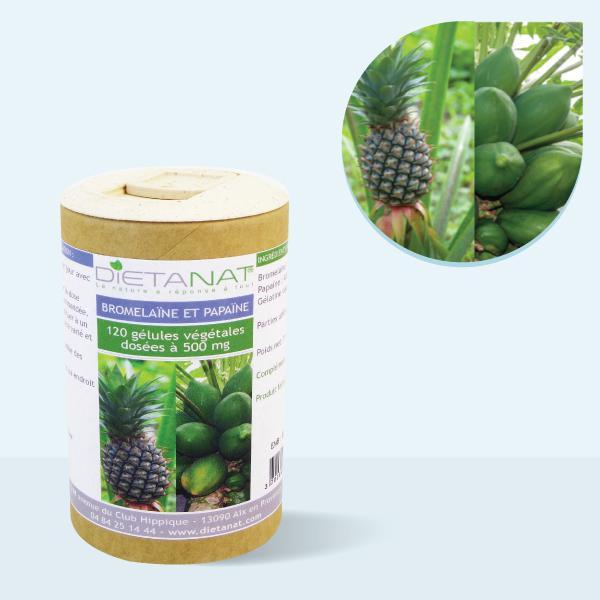 Multi-Enzymes Bromélaïne 400 mg et Papaïne 100 mg - 120 gélules végétales