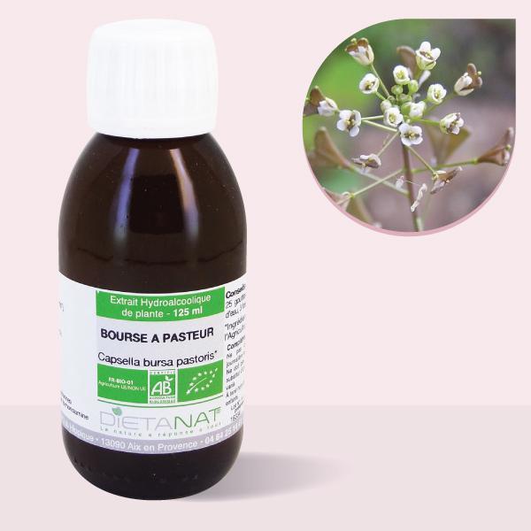 Bourse à Pasteur bio - 125ml Teinture mère bio