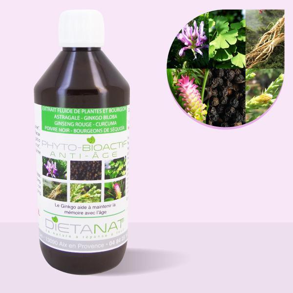 Complexe Anti-âge - 500ml Extrait de plantes fraîches et bourgeons bio
