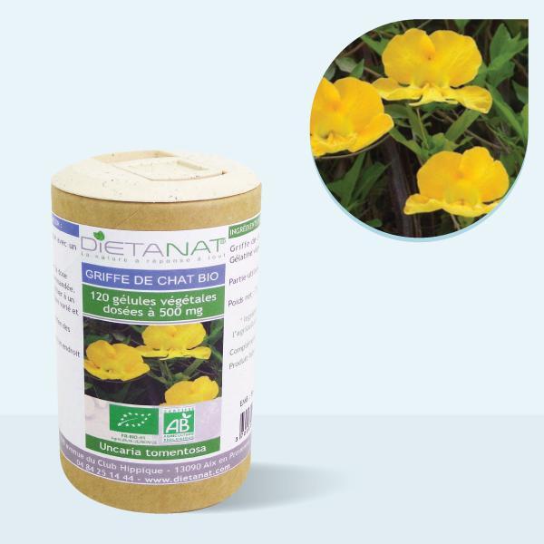 Griffe de Chat bio - 120 gélules végétales 500mg