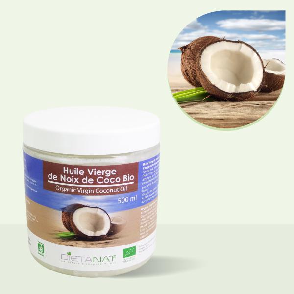 Huile de Noix de Coco 100% vierge - Pot 500ml