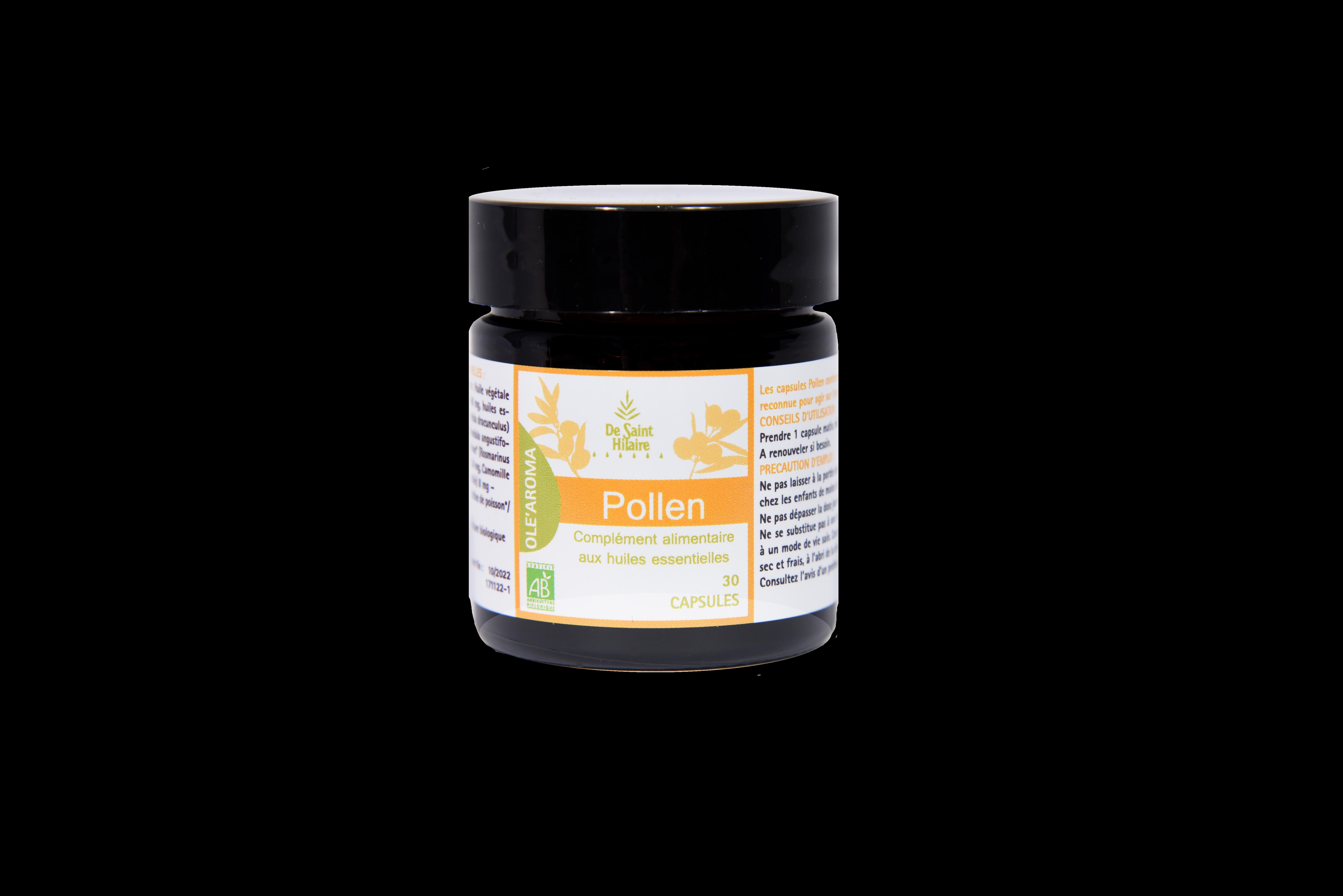Pollen Ole'Aroma Capsules aux huiles essentielles bio
