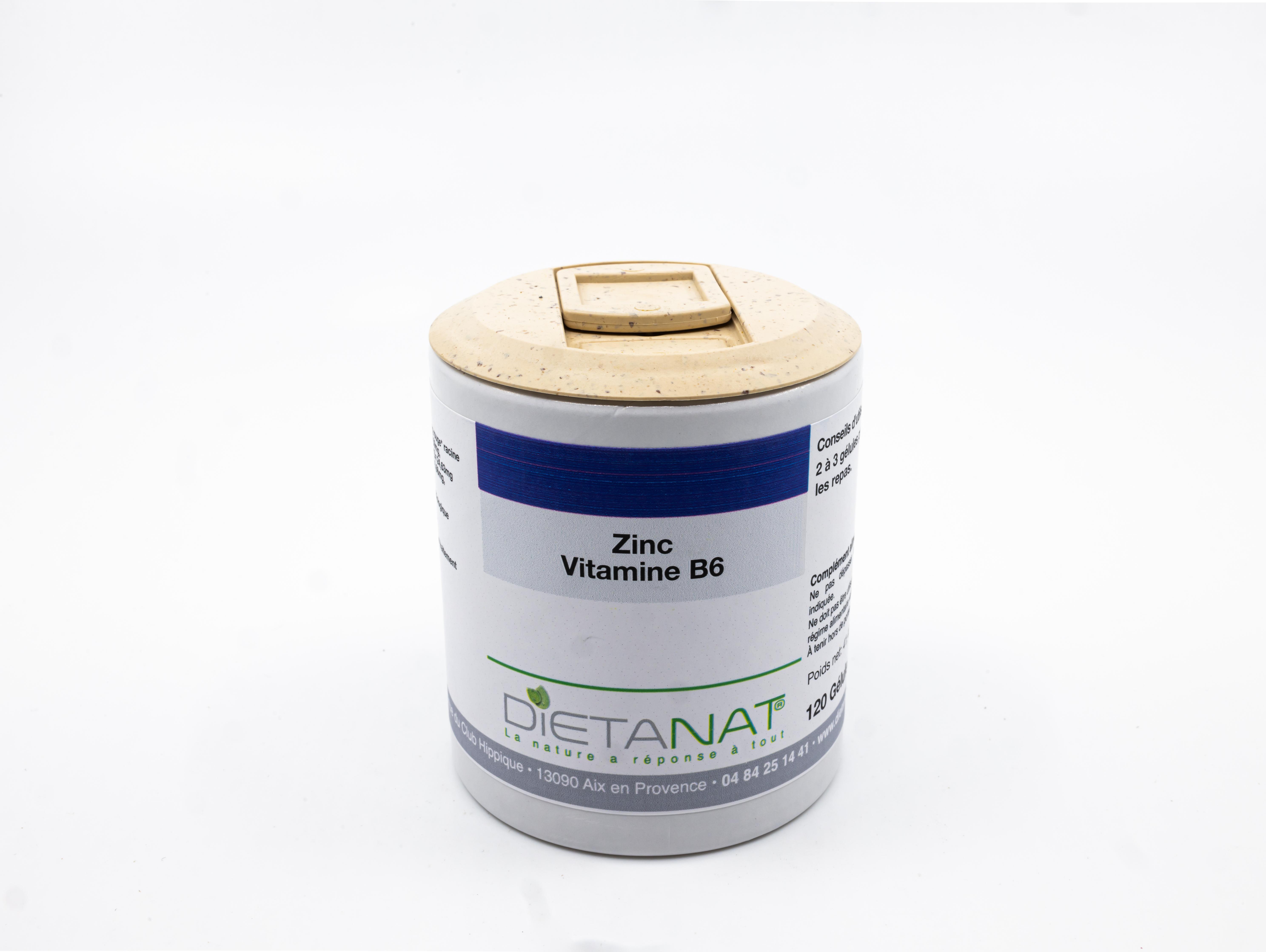 Zinc et Vitamine B6 - 120 Gélules végétales