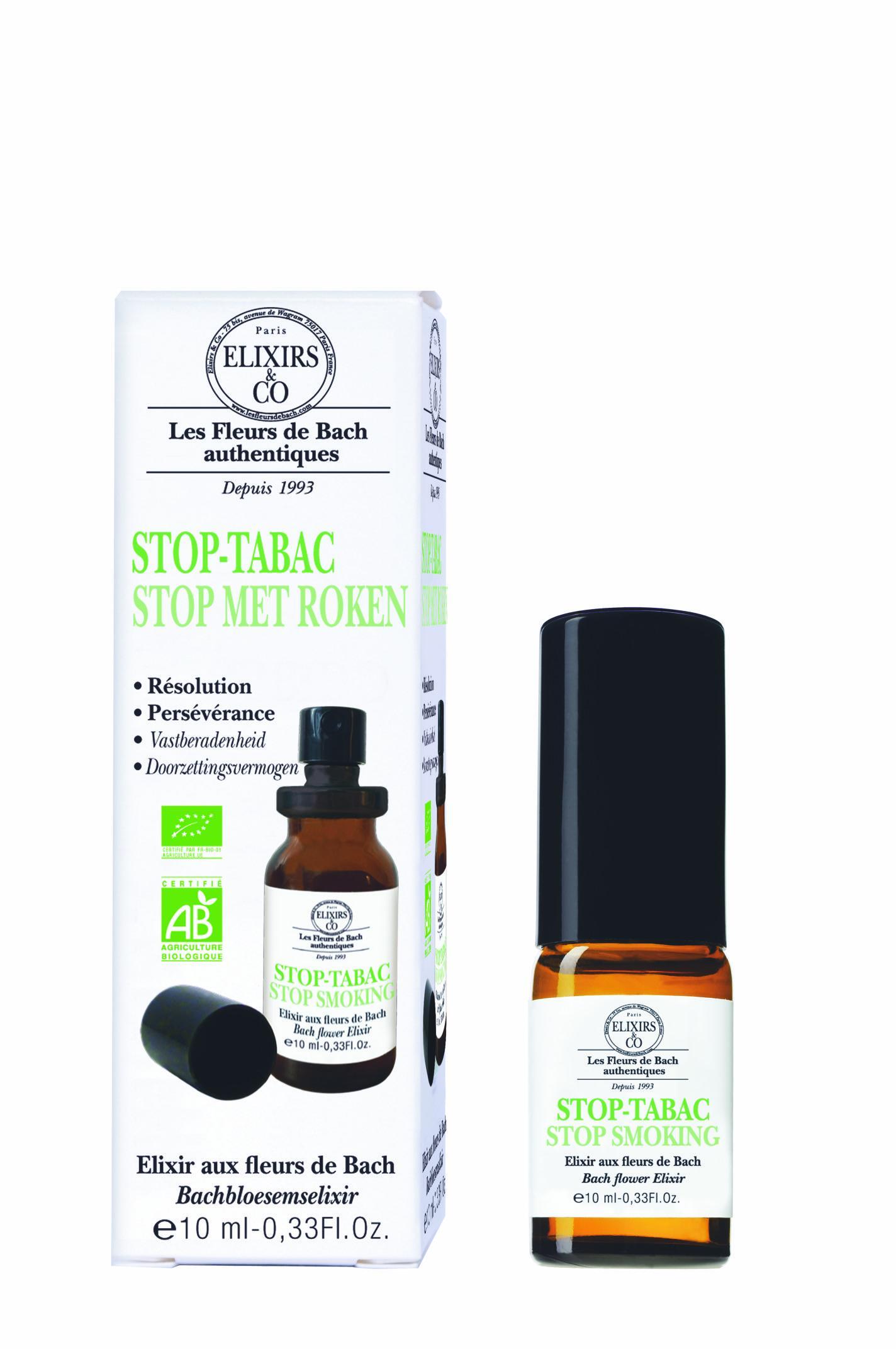 STOP TABAC bio Spray buccal aux Fleurs de Bach D'Elixirs&Co