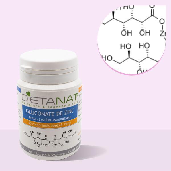 Gluconate de Zinc en comprimés dosés à 15mg