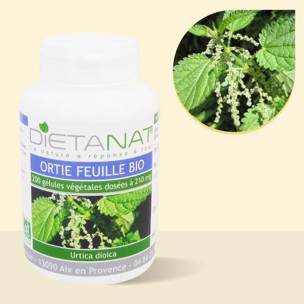 Ortie bio - 200 Gélules végétales bio 210mg