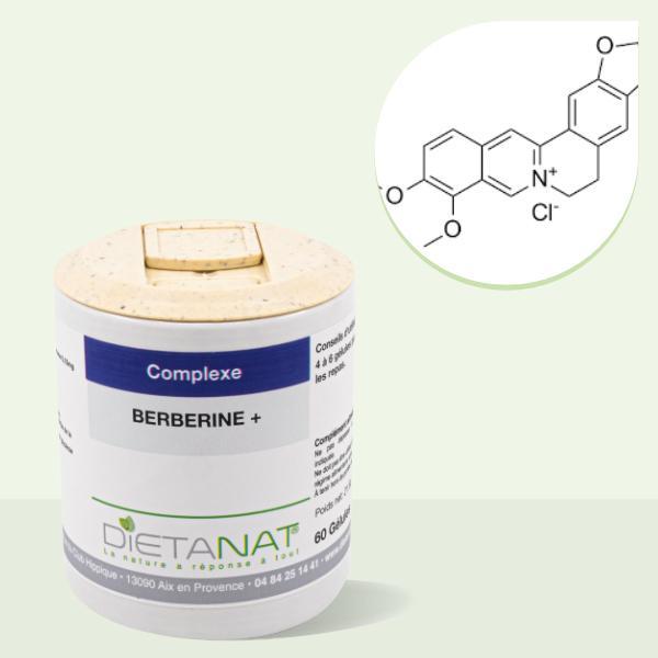 Berbérine + Picolinate de Chrome - 60 gélules dosées à 365 mg