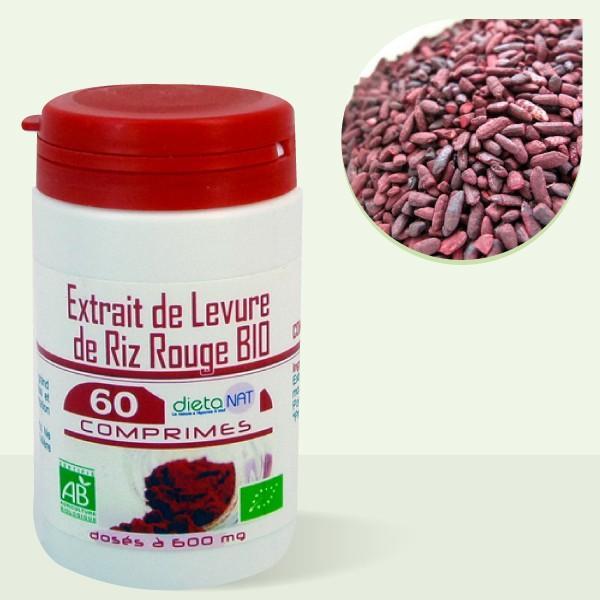 Extrait de Levure de Riz Rouge bio 9,6 mg de monacoline - 60 Comprimés bio 710mg