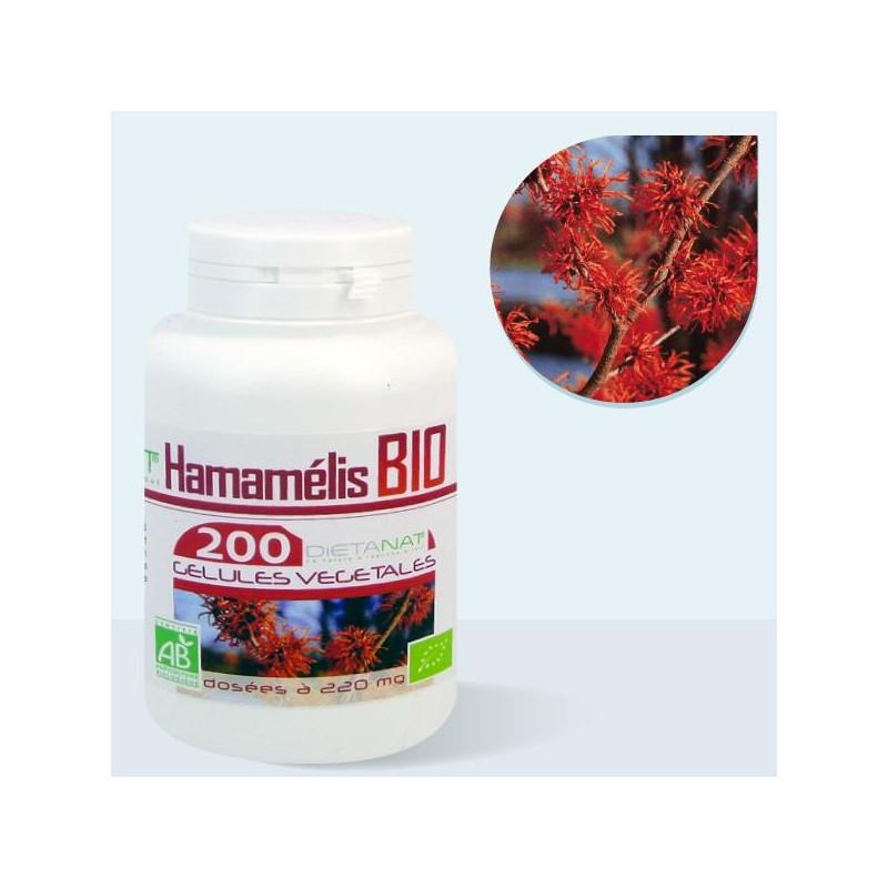 Hamamélis bio - 200 Gélules de plantes 220mg