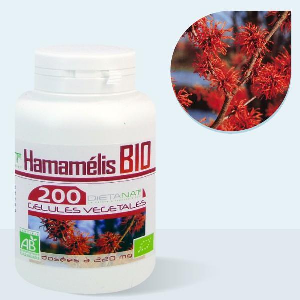 Hamamélis virginiana bio - 200 Gélules végétales 220mg