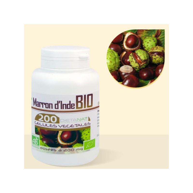Marron d'Inde bio - 200 gélules de plantes 200mg