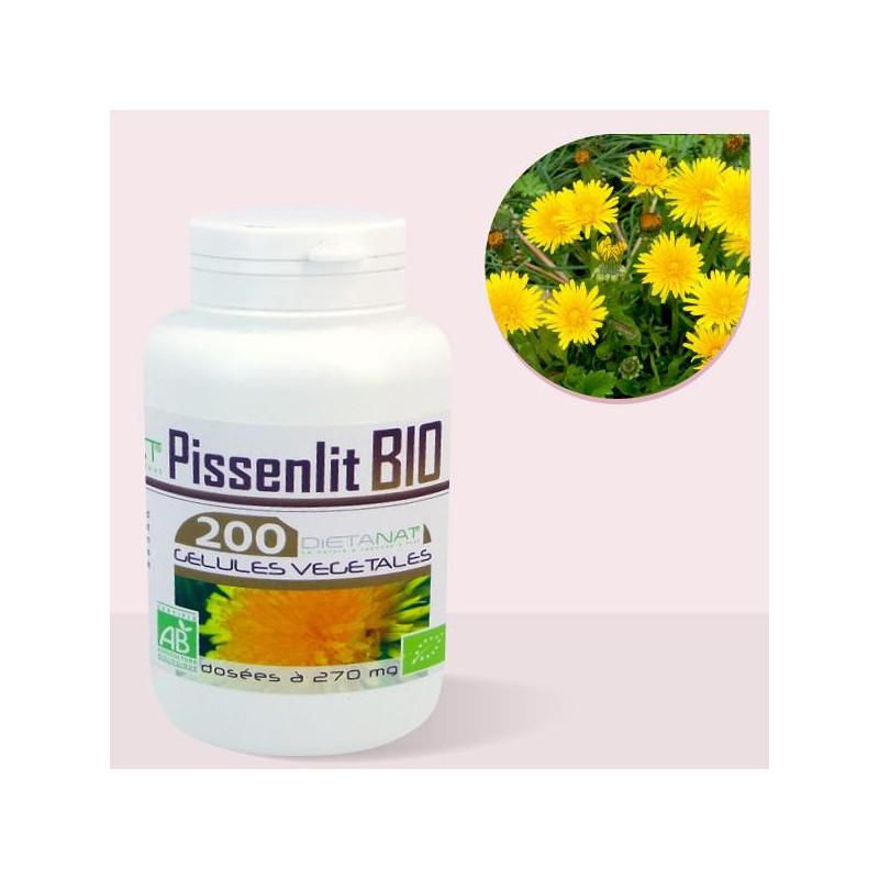 Pissenlit bio - 200 Gélules de plantes 270mg