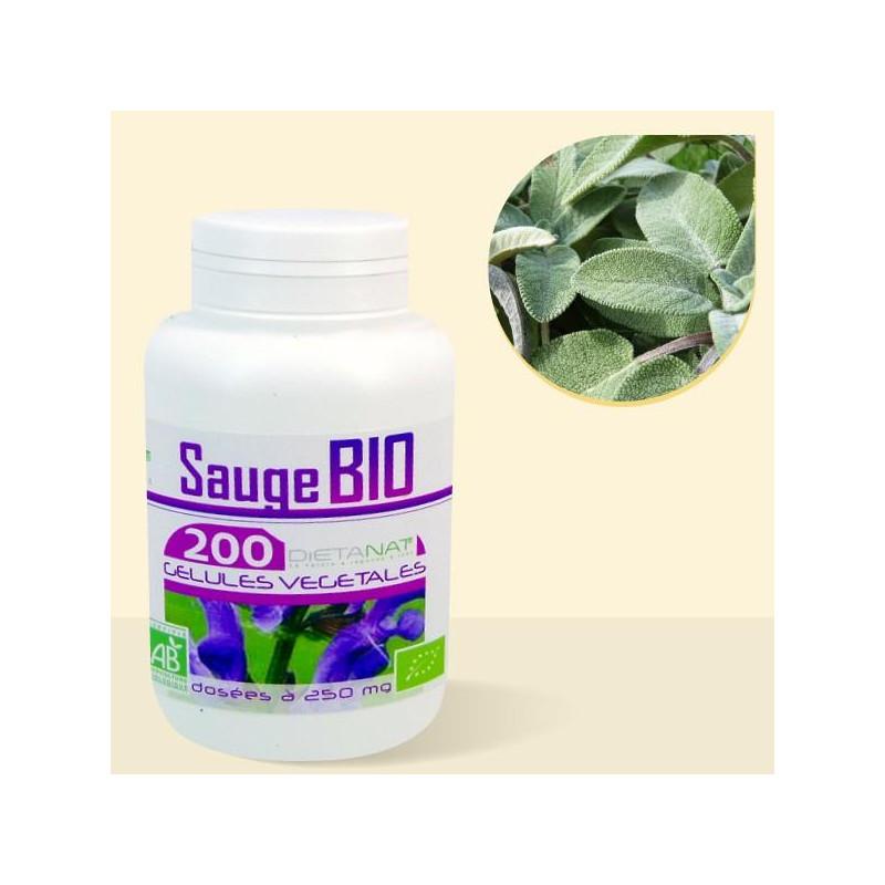 Sauge bio - 200 Gélules de plantes 250mg