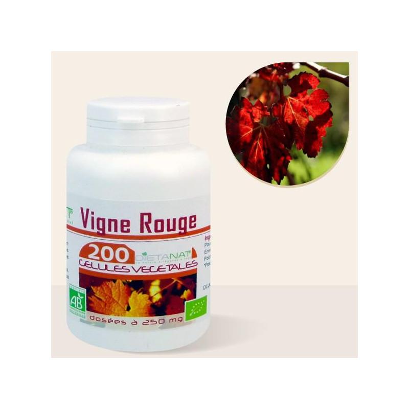 Vigne Rouge bio - 200 Gélules de plantes 250mg