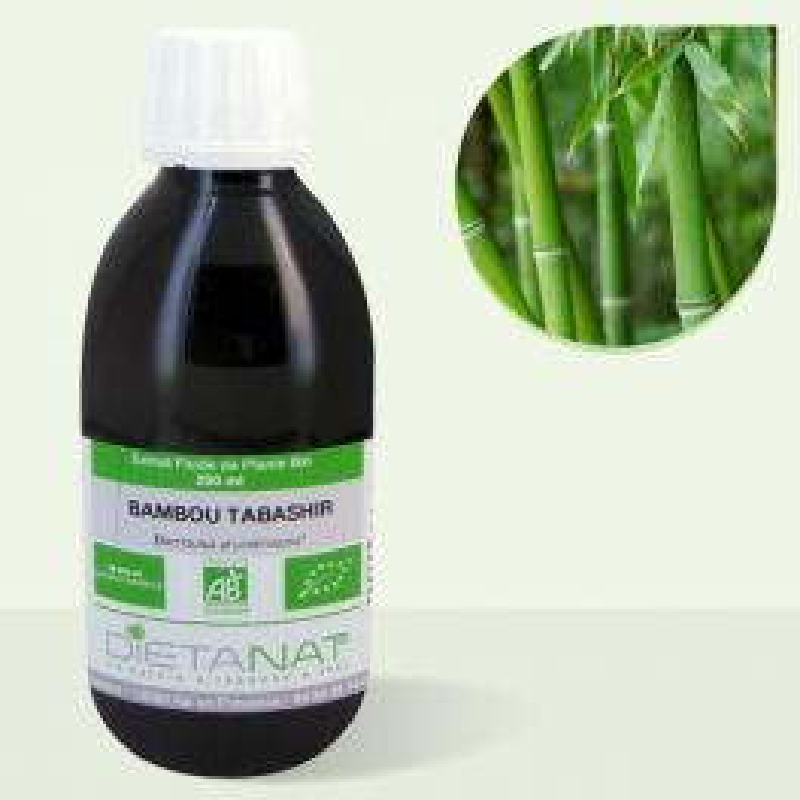 Bambou Tabashir bio - 250ml Extrait de plantes fraiches