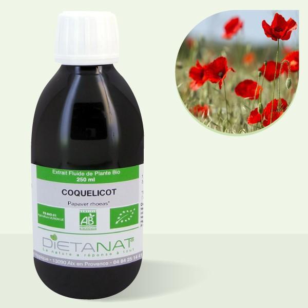 Coquelicot bio - 250ml Extrait de plantes fraiches bio