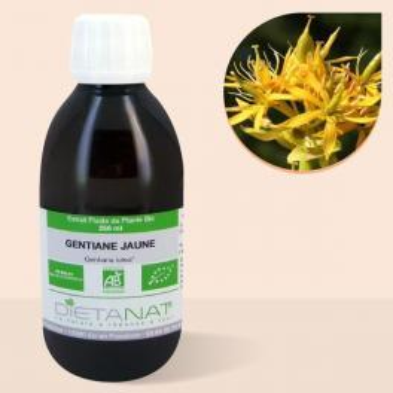 Gentiane bio - 250ml Extrait de plantes fraiches bio