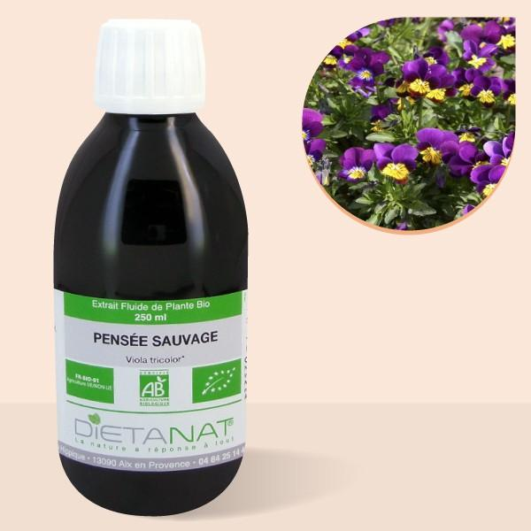 Pensée Sauvage bio - 250ml Extrait de plantes fraiches bio