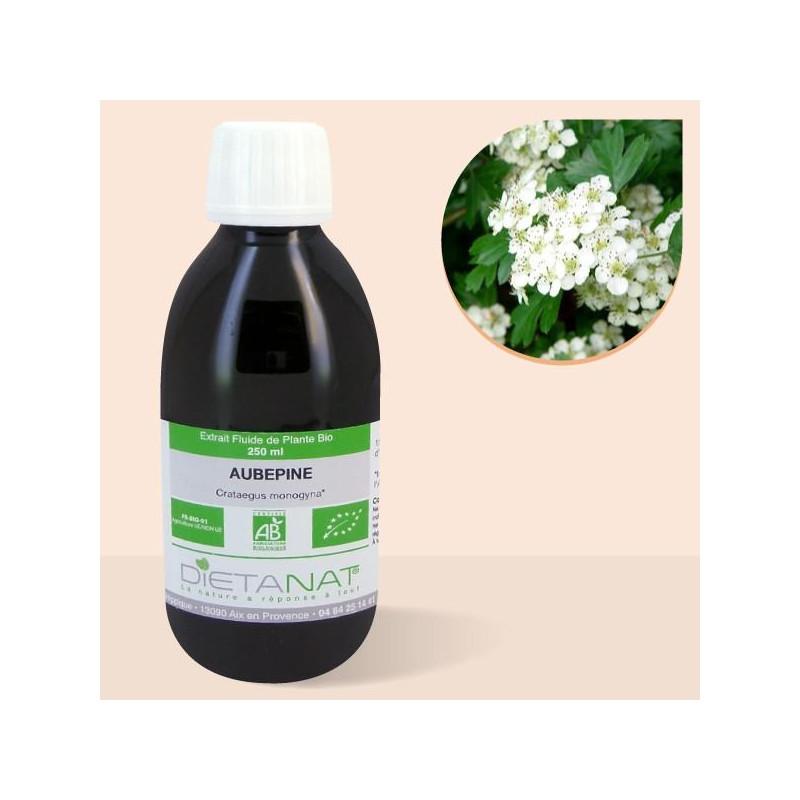 Aubépine bio - 250ml Extrait de plantes fraiches bio de Dietanat
