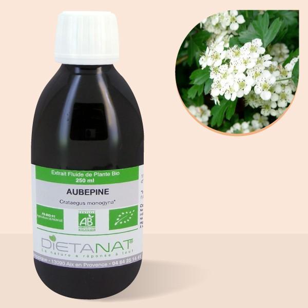 Aubépine bio - 250ml Extrait de plantes fraiches bio