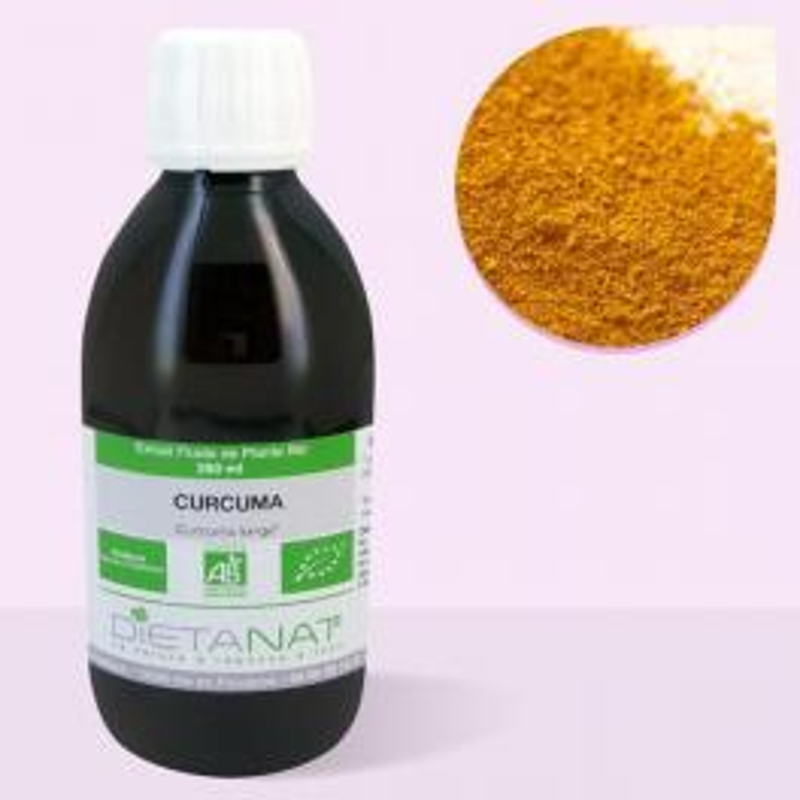 Curcuma bio - 250ml Extrait de plantes fraiches bio