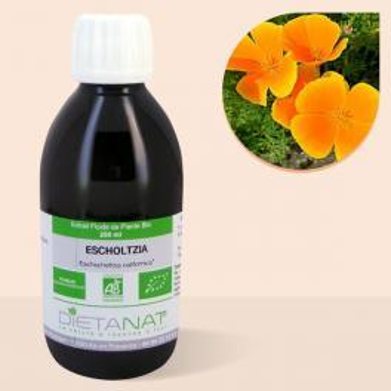 Escholtzia bio - 250ml Extrait de plantes fraiches bio