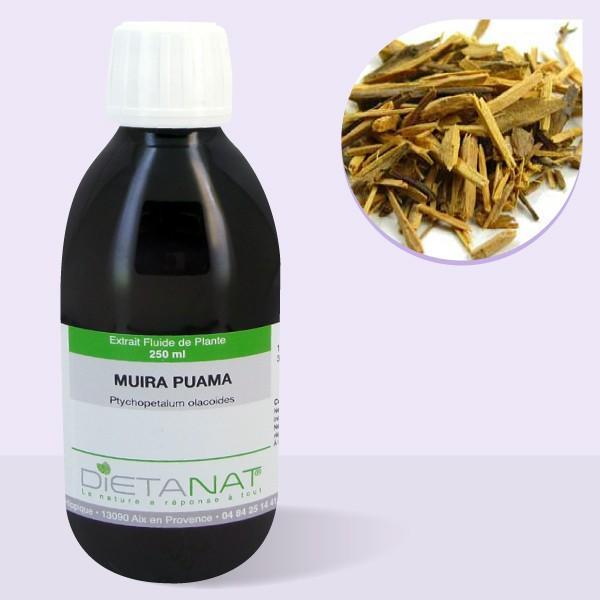 Muira Puama - 250ml Extrait de plantes fraiches