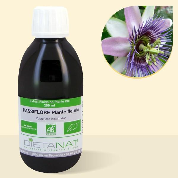 Passiflore bio - 250ml Extrait de plantes fraiches bio