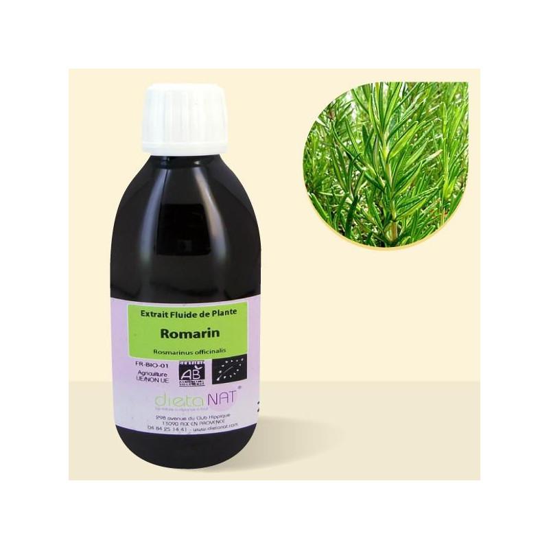 Romarin bio - 250ml Extrait de plantes fraiches bio