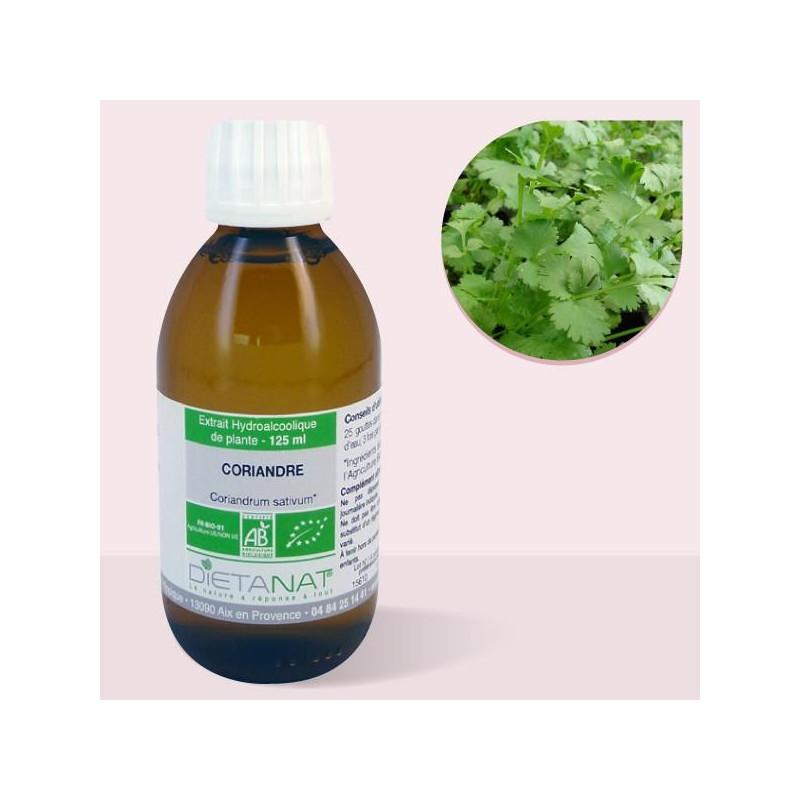 Coriandre bio - 125ml Teinture mère bio de Dietanat