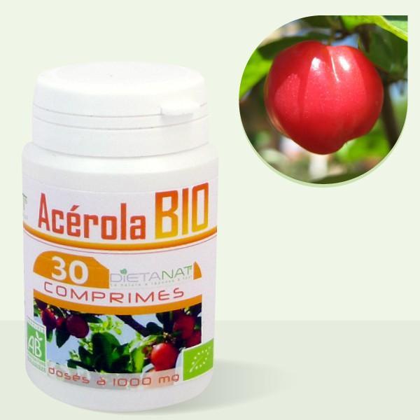 Acerola 1000 bio Vitamine C - 30 Comprimés bio 1000mg