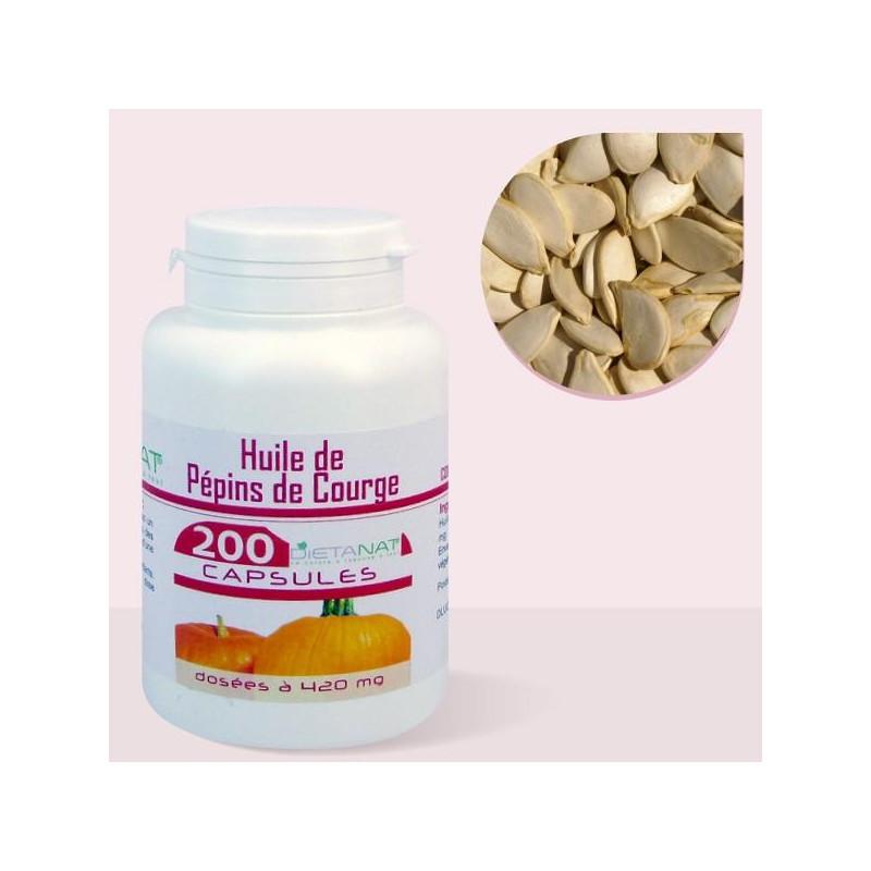 Huile de Pépins de Courge - 200 capsules 420mg