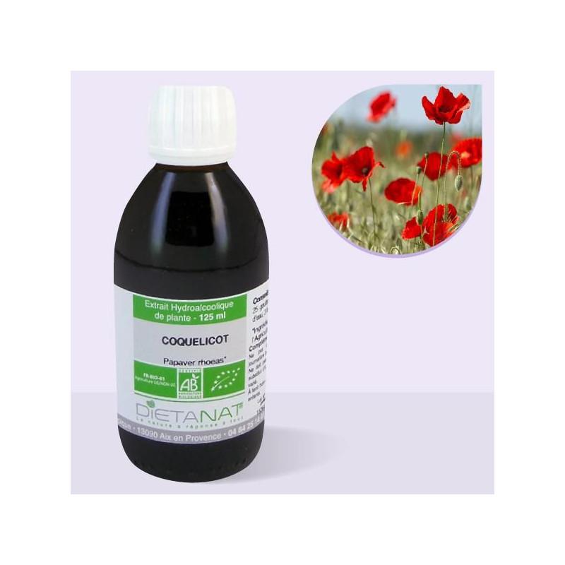 Coquelicot bio - 125ml Teinture mère bio