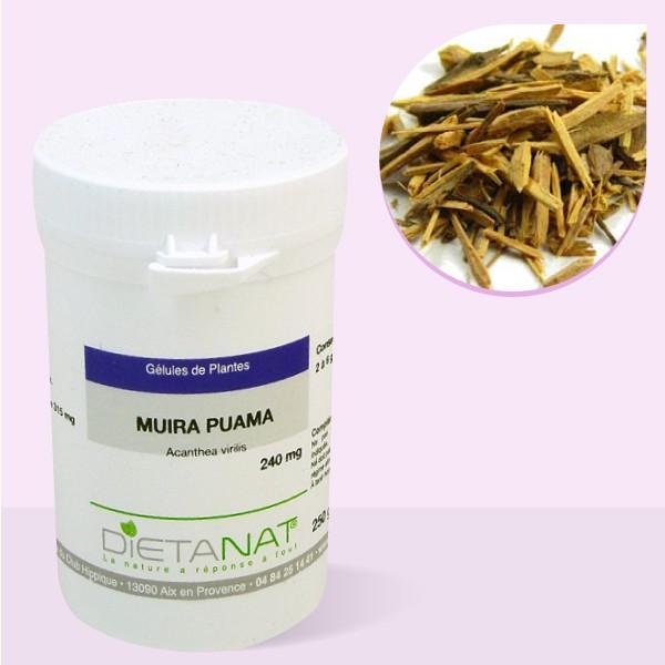 Muira Puama - 200 gélules végétales 240mg