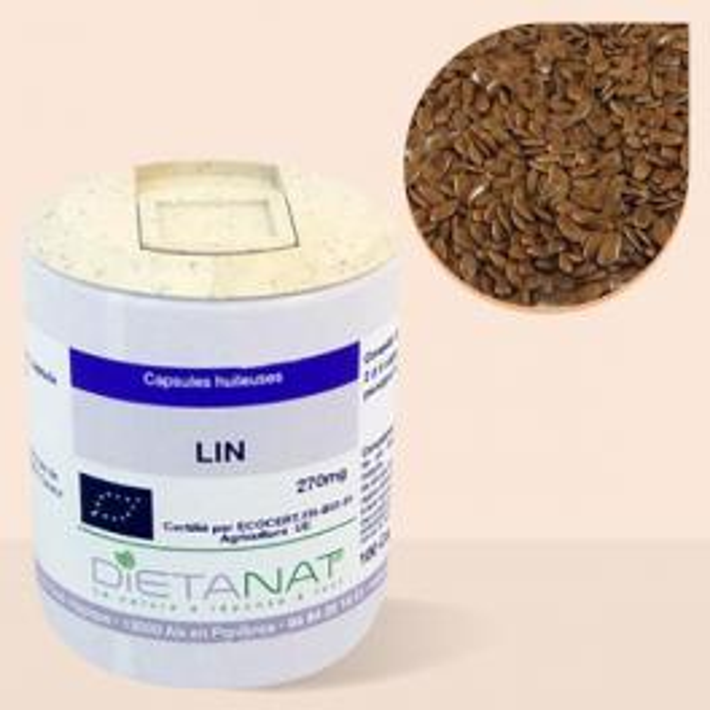 Huile de Lin bio - 100 capsules bio 270mg