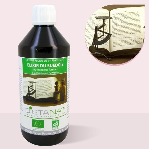 Elixir du Suédois bio - 500ml Extrait de plantes fraiches bio 16°