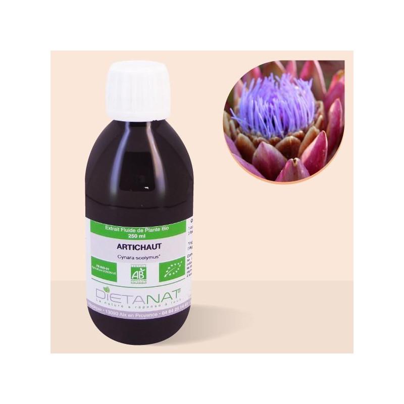 Artichaut bio - 250ml Extrait de plantes fraiches bio